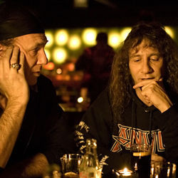 "Thumb Hang: Anvil's Robb Reiner (left) and ""Lips"" Kudlow are true metal lifers."