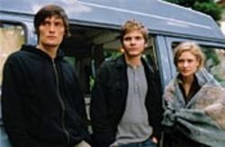 Robbers in a love triangle: Peter (Stipe Erceg), Jan  (Daniel Brühl) and Jule (Julia Jentsch).