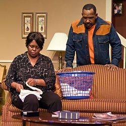 The play (with Bebe Wilson and Byron Jacquet) bumps along like daily life does &amp;mdash; until the Big Issue comes along.