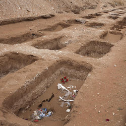 Battles among cartels, their rivals and soldiers had led to almost 9,000 deaths by April 2009. Graves at San Rafael cemetery in Ciudad Juarez were dug out in anticipation of further deaths that year.