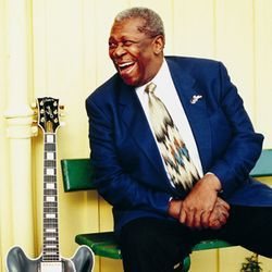 B.B. King always has a lot to smile about.
