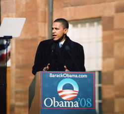 Obama announced his presidential candidacy in front of the Old State Capitol in Springfield, where Abraham Lincoln gave his famous House Divided speech.