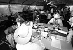The judges at the Houston rodeo barbecue cook-off are predominantly white. And so are the judging standards.