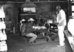 Black farmworkers and cowboys were regulars in the back of the old Kreuz Market.
