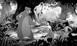 Note the Freudian subtext of the man cub Mowgli's conflicted affections for both the lavender bear and the village girl… Or, don't.