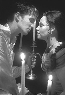 Eternal flames: Romeo (Daniel Magill) and Juliet (Jennifer Cherry) head a production that puts a fresh spin on the ageless romance.