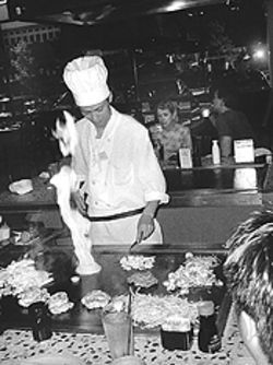 Dinner and a show: Tokyohana's teppanyaki cooking not only provides entertainment, but it cuts down on the operational expenses
