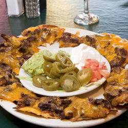 The nachos make a great entrée item.