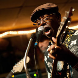 "Houston bluesman Texas Johnny Brown is one of the many local legends performing at SPA Houston's ""Preserving a Legacy."""