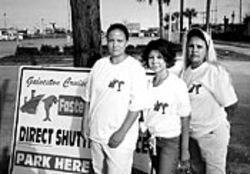 Jocelyn Howell and Tiffany and Sylvia Robledo have risked arrest in their efforts to establish a private parking service.