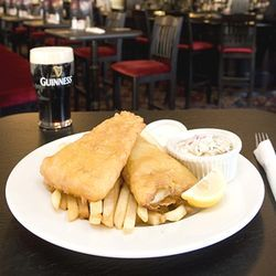The fish and chips and a Guinness at the Firkin & Phoenix are close to the real British experience.