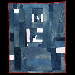 Created after the first exhibition, Mary Lee Bendolph's work-clothes quilt contains signs of self-awareness.