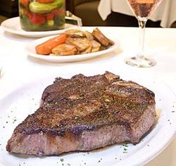 The $55 porterhouse steak can feed two people.