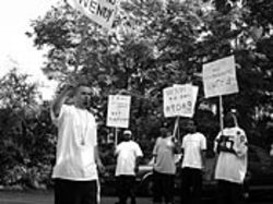 Paul Wall (left) leads some of the KPFT protests.
