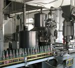 The old-fashioned bottling equipment is still in use.