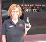 Tour guide, Dr Pepper museum curator and collections manager Lori Dodd
