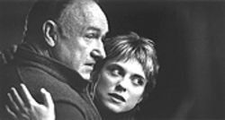 Grumpy Old Men and an adulterous young woman: Gene Hackman and Rebecca Pidgeon in Heist.