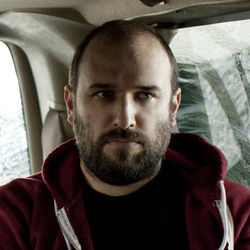 When not on the road, David Bazan enjoys NPR and drinking beer with his buddies.
