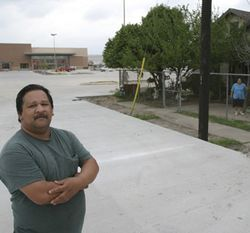 Oscar Trevino Jr. says a broker followed him to his father's grave site to persuade him to sell his property.