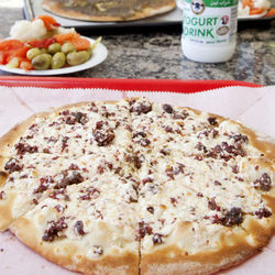 Sojok, with its crumbled sausage, salty cheese and pita bread, is like Lebanese chorizo.