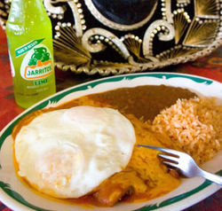 "This vintage eatery offers old-time ""breakfast enchiladas."""