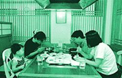 Diners of all ages enjoy Nam Gang's Korean specialities.