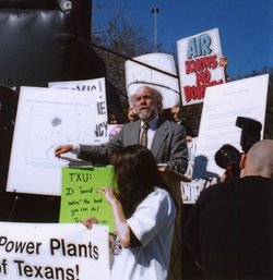 "...but even so, Public Citizen director Tom ""Smitty"" Smith, at his recent press conference opposing coal power plants, didn't list nuclear power as an alternative."
