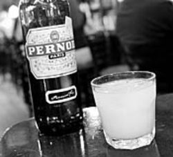 Shay McElroy's Pernod and water