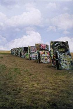 Drive-in entertainment: Ant Farm's Cadillac  Ranch is a pop-culture icon.