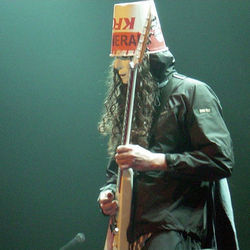 Funny headgear, serious technique: Buckethead