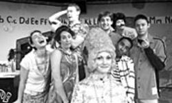 Mrs. Jewels (Katherine Randolph, foreground) and the crazy class of Wayside School