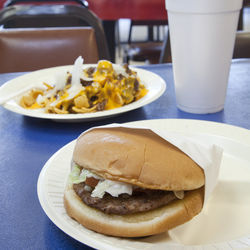 Takes you back: junior burger and a Frito pie.