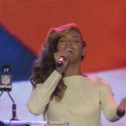 Beyoncé shushed her doubters by singing the national anthem live during her January 31 Super Bowl press conference.