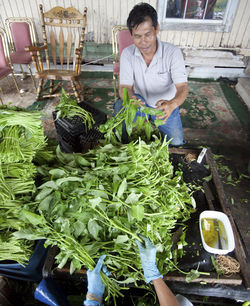 Yin Vuth, who&#039;s harvested water spinach in The Village for about 30 years, takes hundreds of pounds of the crop into Houston on Thursdays but says he makes substantially less money today than he did years ago.