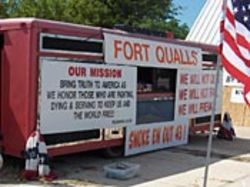 Before you get to Camp Casey, you must pass Fort  Qualls.
