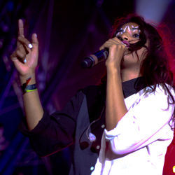 M.I.A.: Amazing dance moves, uneven set.