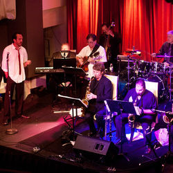Luke Wrobel (left) and his band swing back to the Sinatra days at The Capitol.