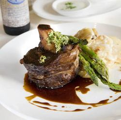 The short ribs are absolutely stunning with a Dogfish Head Brown Ale.