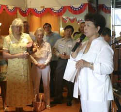 At her campaign kickoff party, State Representative Martha Wong stressed her contributions to health care and the Texas Medical Center. She avoided other issues.