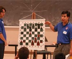 The university chess team makes regular runs into the community to build interest in the game.