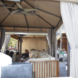 The posh cabanas at Straits give the CityCentre restaurant/bar a distinct southern California vibe.