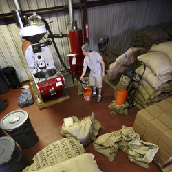 Café Copán's tiny roasting operation is in Tomball.