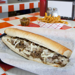 As authentic as it gets: Pappa Geno's steak and cheese sandwich.