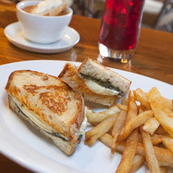 Nostalgia-evoking: The grilled cheese with tomato soup.