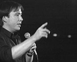 Bill Hicks performs in the video Sane Man.