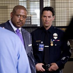 The glacial stare of Keanu Reeves (right, with Forest Whitaker) generates no heat.