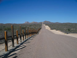 The U.S.-Mexico border &amp;#147;fence&amp;#148; in eastern Arizona, not far from the Krentz killing site.