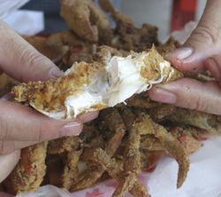 Barbecued crab is a summertime delicacy in East Texas.