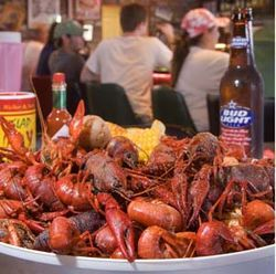 The boiled crawfish at Swampy&#039;s will turn your fingers orange.