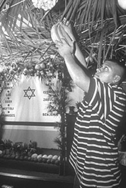 Parishioners go all out for the Jewish tradition of the sukkah.